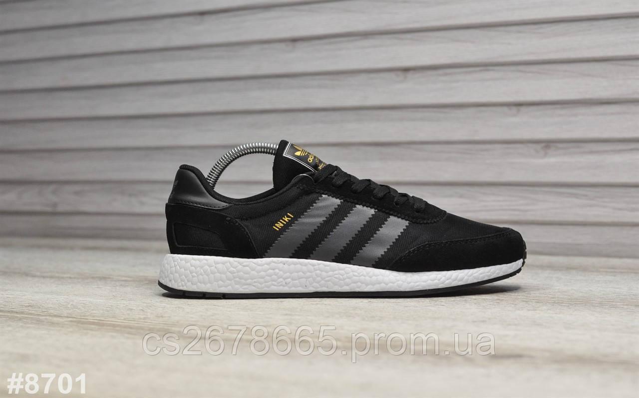 Мужские кроссовки Adidas Iniki Black Gray 8701