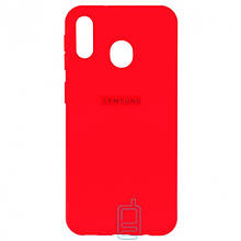 Чехол Silicone Case Full Samsung M20 2019 M205 красный