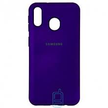 Чехол Silicone Case Full Samsung M20 2019 M205 фиолетовый