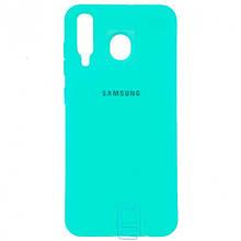 Чехол Silicone Case Full Samsung M30 2019 M305 бирюзовый