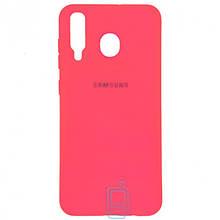 Чехол Silicone Case Full Samsung M30 2019 M305 малиновый