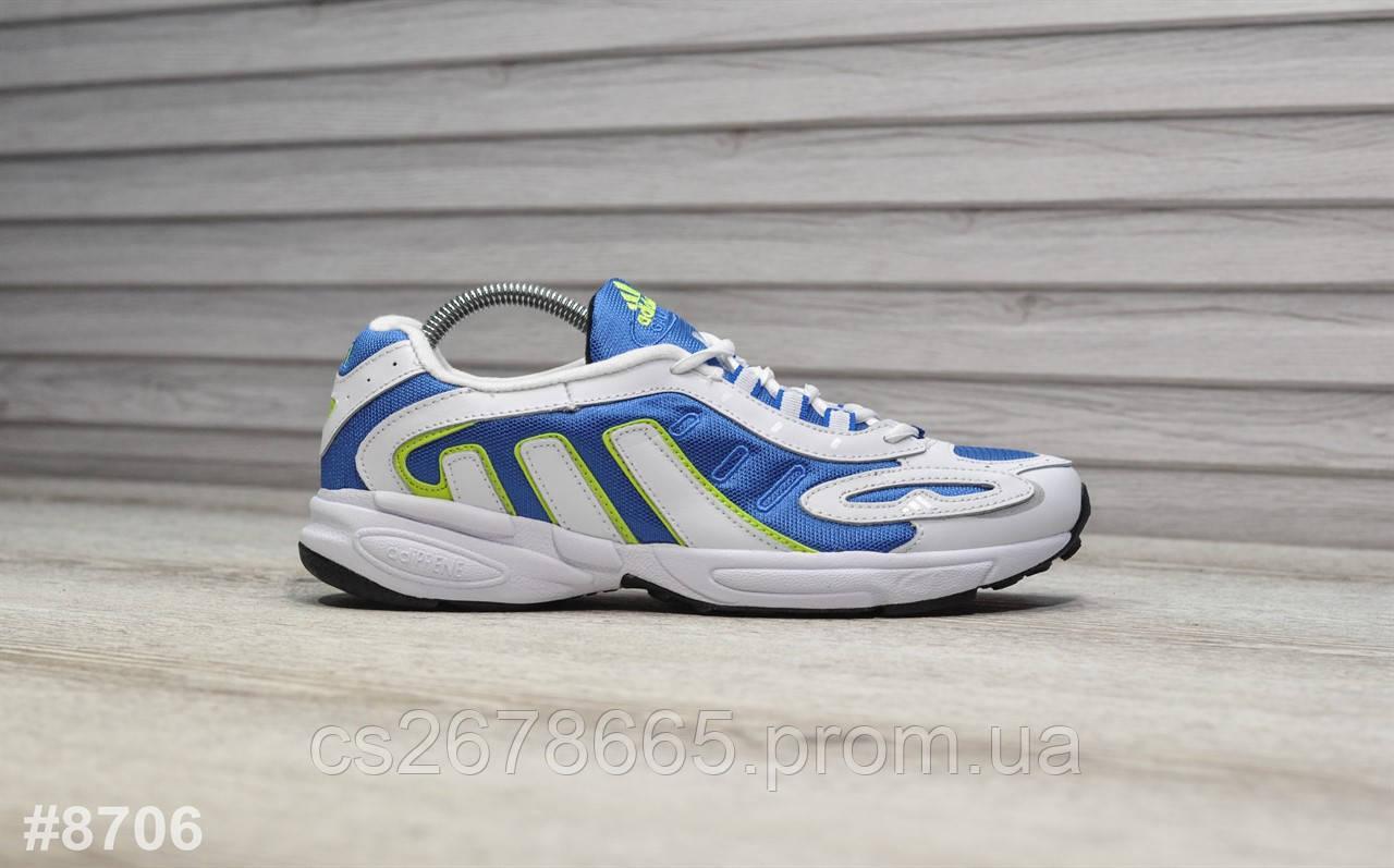 Мужские кроссовки Adidas Galaxy White Blue 8706