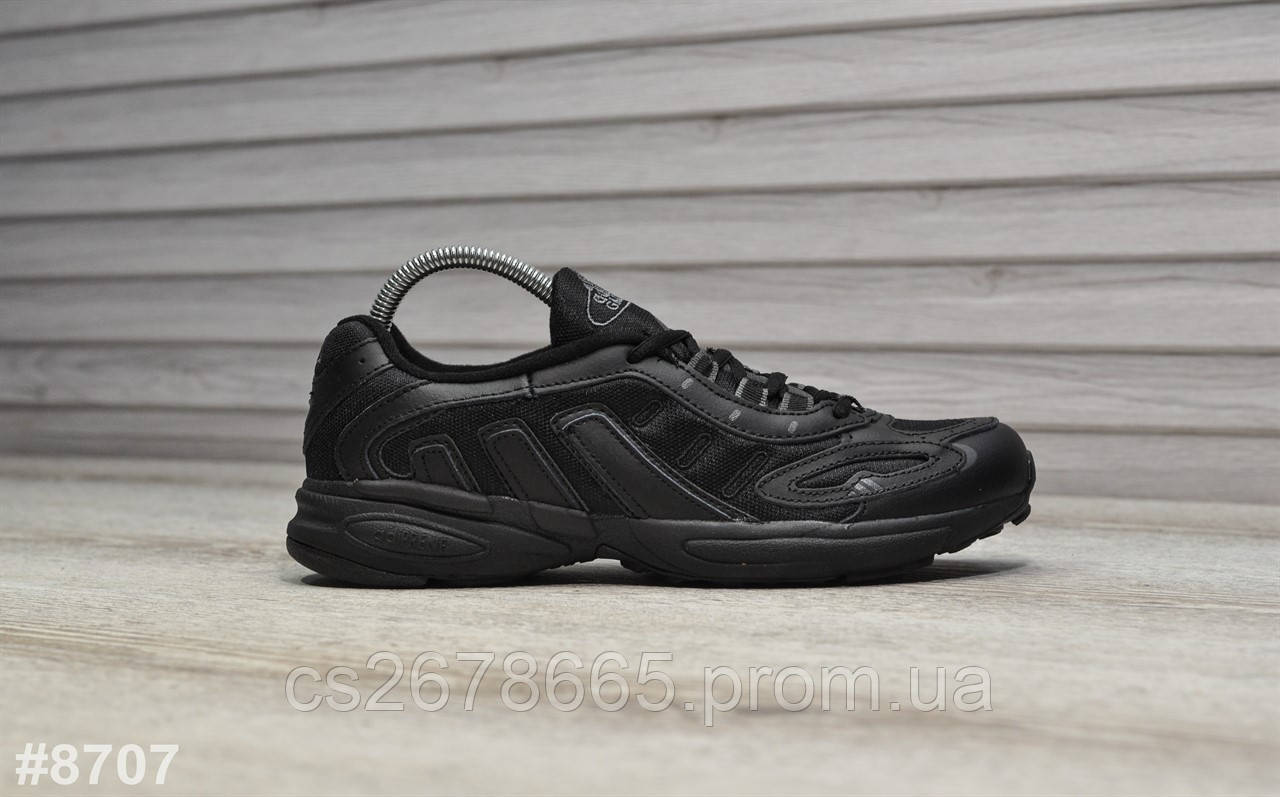 Мужские кроссовки Adidas Galaxy Triple Black 8707