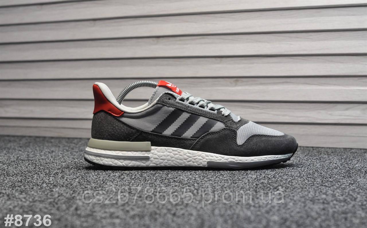 Мужские кроссовки Adidas ZX 500 Gray Red 8736
