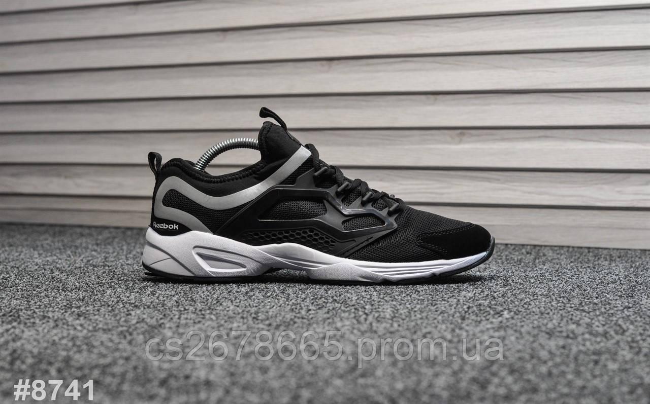 Мужские кроссовки Reebok Fury Black White 8741