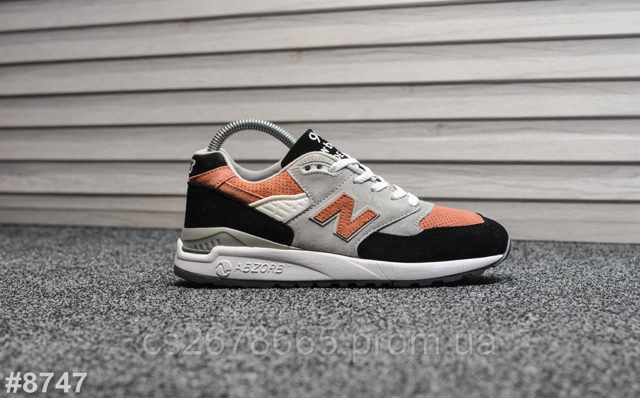 Мужские кроссовки New Balance 998 Gray Black Orange 8747