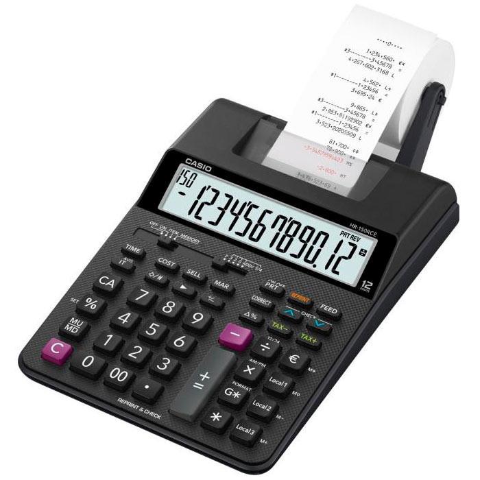 Калькулятор Casio  HR-150RCE-WA-EC с печатью (  2 цвета )