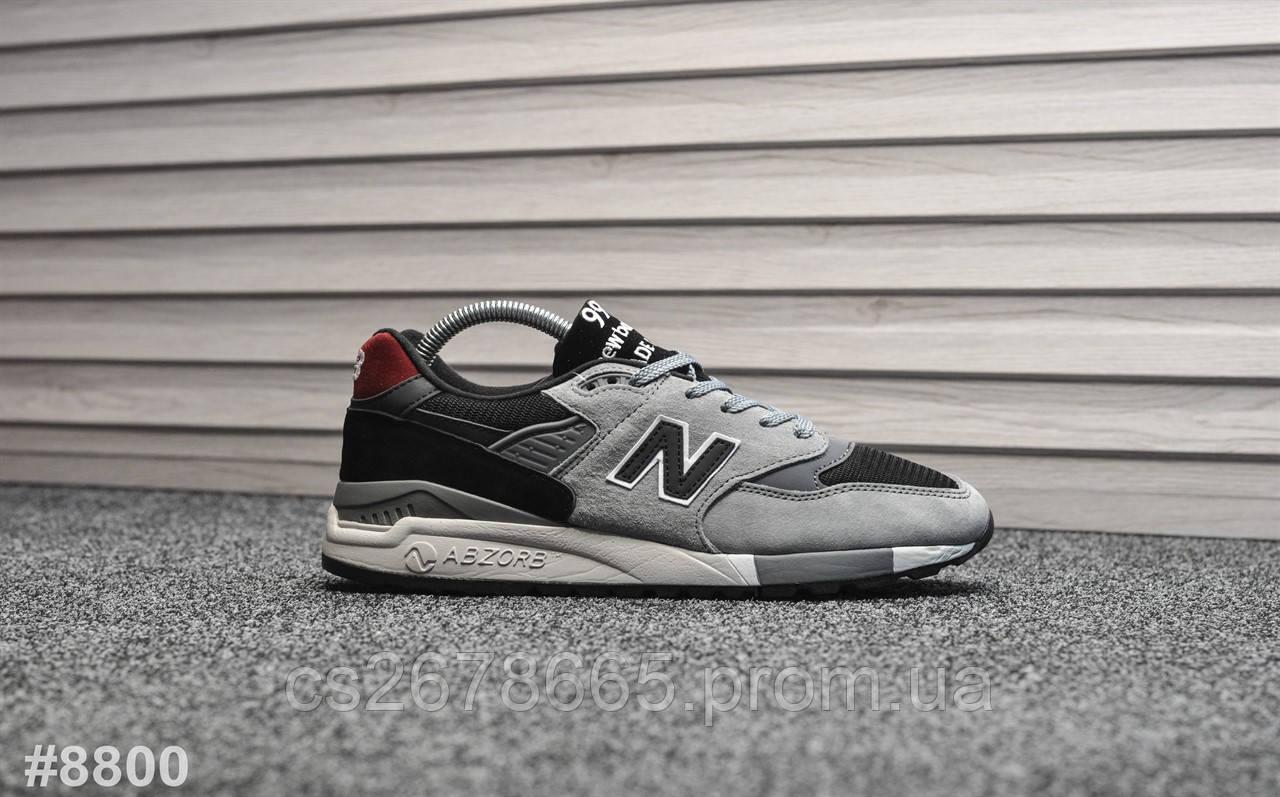 Мужские кроссовки New Balance 998 Gray Black 8800