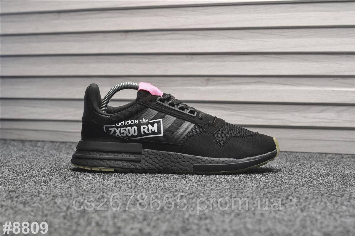 Мужские кроссовки Adidas ZX 500 RM Triple Black 8809