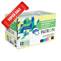 Перезаправляемые картриджи Canon Pixma iP4700 (комплект 5 шт + чернила) Patron