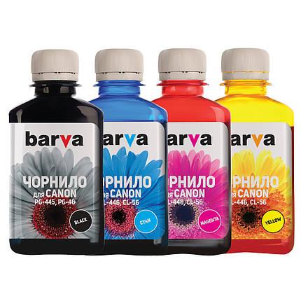 Комплект чернил Barva Canon PG-445 / PG-46 + CL-446 / CL-56, C/M/Y/K, 4 x 180 г (I-BAR-CPG445-180-MP), краска, фото 2
