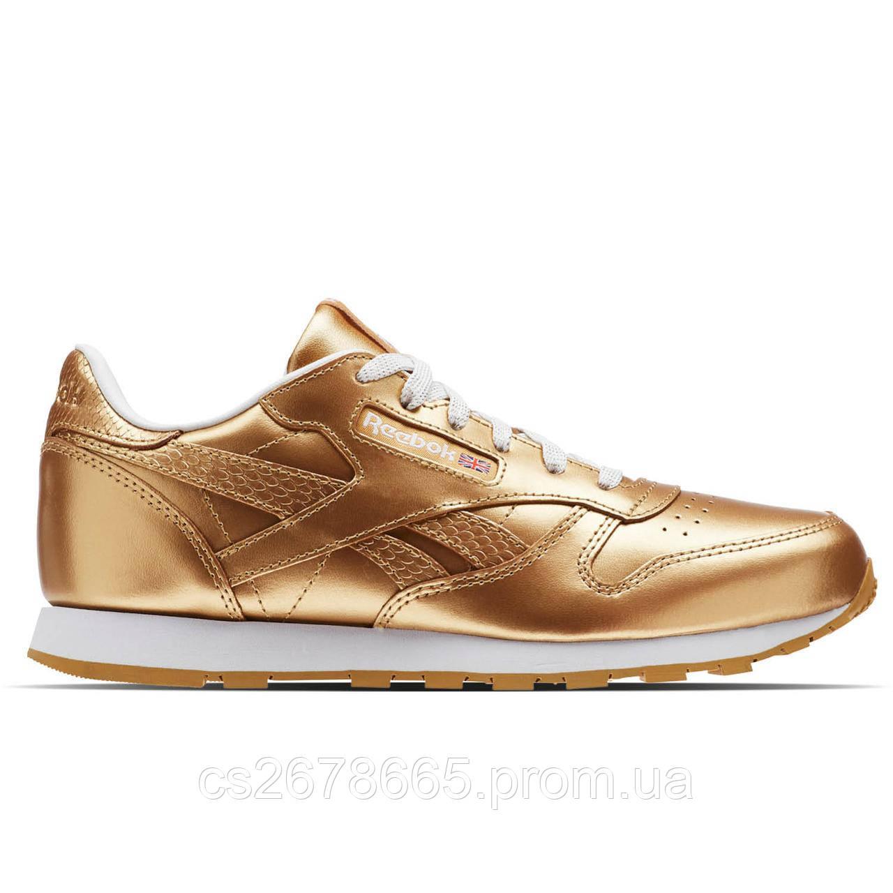 Женские кроссовки Reebok Classic Leather Metallic Gold BS8944