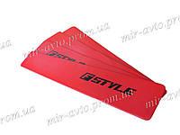 Вставки в двери Fstyle красные ВАЗ 2109