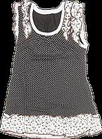 Детский летний сарафан на широких бретельках, хлопок (кулир-пинье), ТМ Ромашка, р. 80, 86, 104, 110, Украина