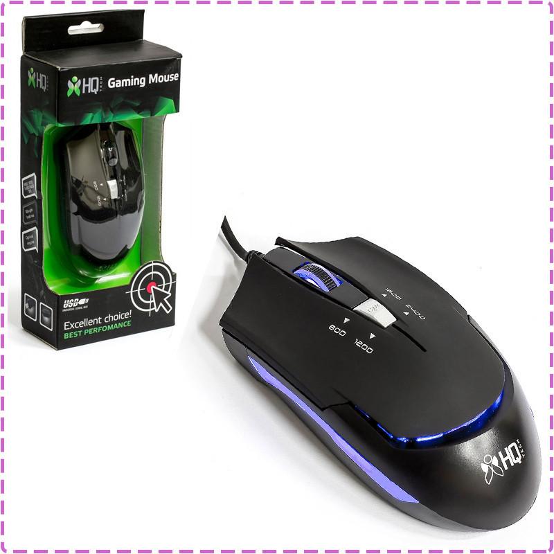 Игровая мышь HQ-Tech HQ-MV G7, Black, USB, с подсветкой, Optical 2400DPI, Box, Gaming, мышка