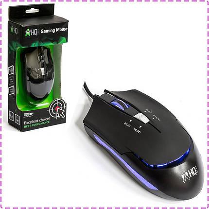 Игровая мышь HQ-Tech HQ-MV G7, Black, USB, с подсветкой, Optical 2400DPI, Box, Gaming, мышка, фото 2