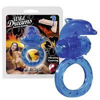 Эрекционное кольцо с вибрацией Дельфин