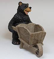 """Садовое Кашпо """"Медведь с тачкой"""" (Sealmark) GG-4736 MF"""