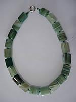 Агат зеленый Африканский Бусы прямоугольной формы 18мм*15мм