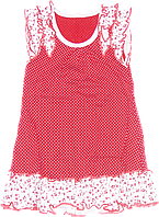 Детский летний сарафан на широких бретельках, хлопок (кулир-пинье), ТМ Ромашка, р. 80, 86, 92, 98, Украина