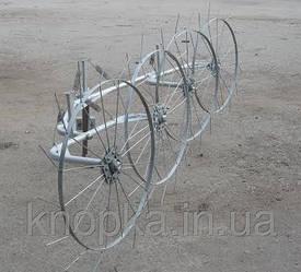 """Грабли ворошилки (""""Солнышко"""") ТМ Ярило (2,5 м, 4 колеса)"""