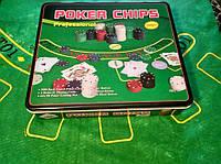 Набор для игры в покер на 500 фишек с номиналом   новый покерный набор
