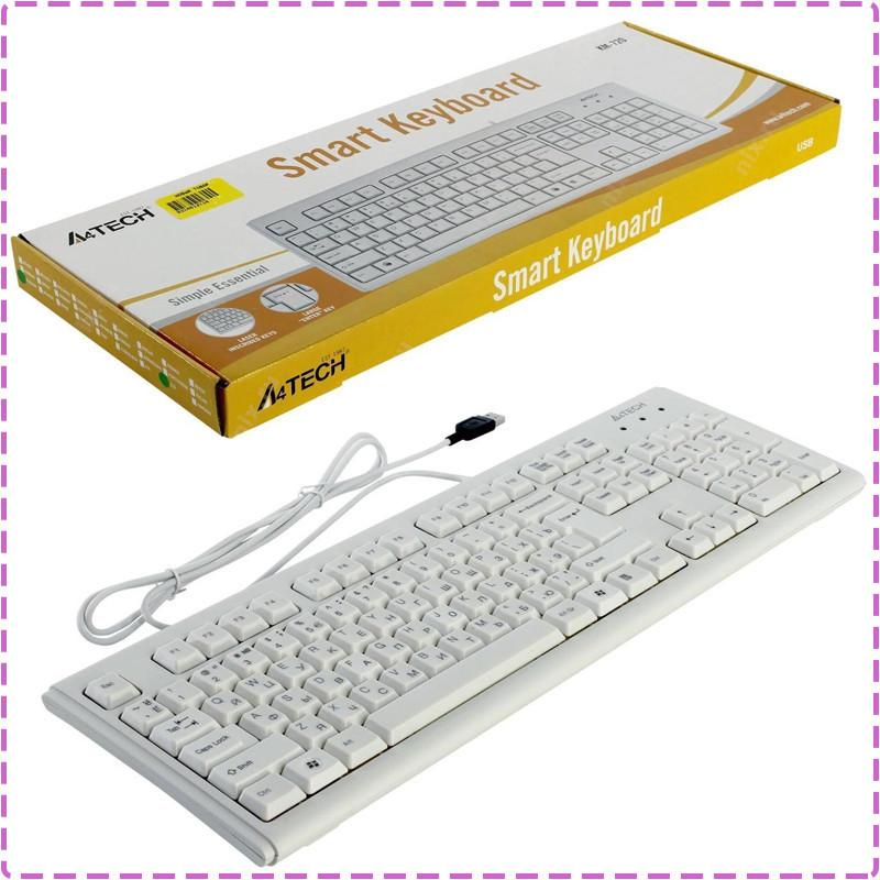 Клавиатура A4tech KM-720 White, Rus+Ukr, ergonomic USB