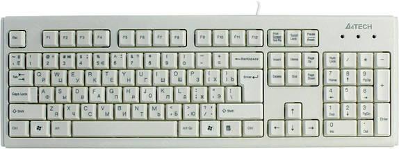 Клавиатура A4tech KM-720 White, Rus+Ukr, ergonomic USB, фото 3