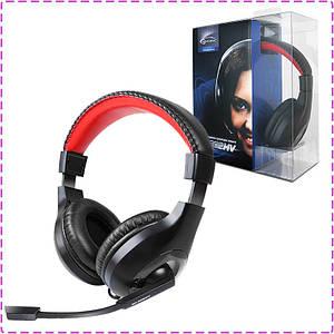 Наушники с микрофоном Gemix HP-802MV Black, гарнитура