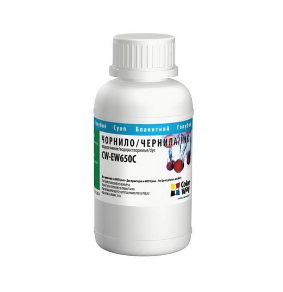 Чернила ColorWay Epson T50/59, P50, TX650/700/800, PX660/700, R270/390, Light Cyan, 200 мл (CW-EW650LC02), краска для принтера