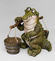 """Садовое кашпо """"Крокодил с коромыслом"""" (Sealmark) GG-4743 LC"""
