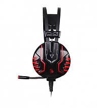 Игровые наушники с микрофоном Bloody M615 Black, игровая гарнитура, фото 2