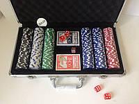 Набор для игры в покер 300 фишек в кейсе покерный набор