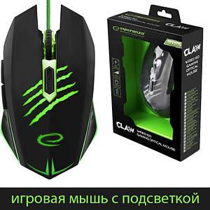 Игровая мышь Esperanza MX209 Claw Black, подсветка, 2400dpi, кабель 1.5 м, мышка (EGM209G)