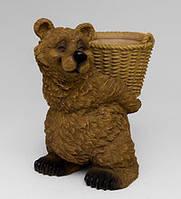 """Садовое кашпо """"Медведь с корзиной"""" (Sealmark) GG-4487-LG"""