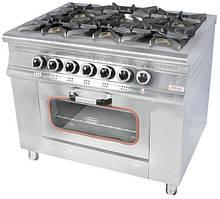 Плита 6-ти конфорочная с духовым шкафом и газовым контроллером МО15-6 (Pimak)
