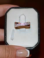 Кольцо из серебра с золотыми встаками, фото 1