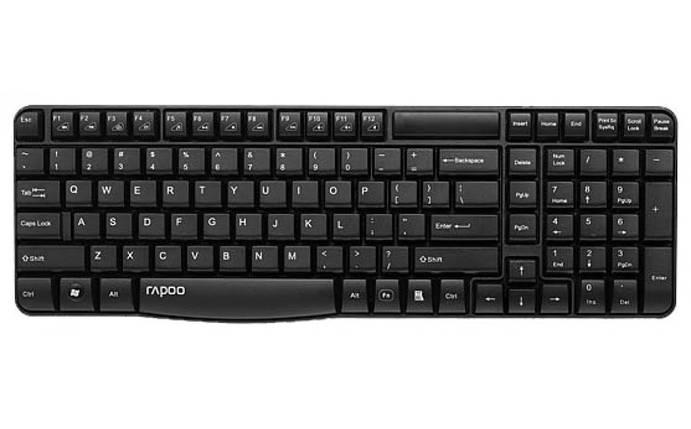 Беспроводная клавиатура Rapoo E1050 wireless, Black, фото 2