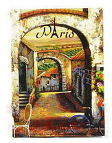"Тетрадь А6 96 листов,7БЦ,текстура+фольга ""Romantic Paris"" Yes"