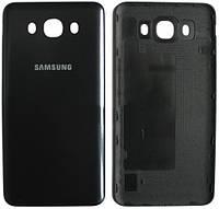 Задняя крышка Samsung Galaxy J7 (J710, 2016) черная , сменная панель самсунг