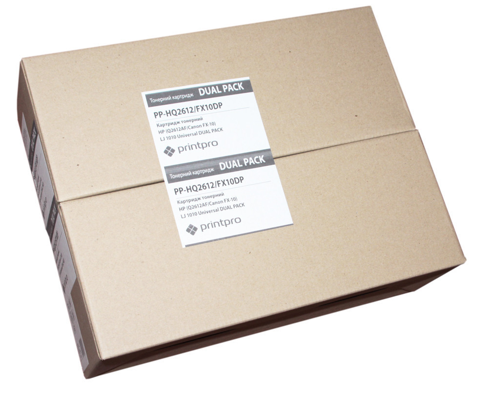Комплект 2 картриджа HP 12A (Q2612A), Black, LJ 1010/1020/1022/3015/3020/3030/3050/3055, PrintPro, Dual Pack