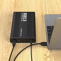 """Карман зовнішній USB3.0 Maiwo K3502-U3S black SATA для жорсткого диска 3,5"""", фото 3"""