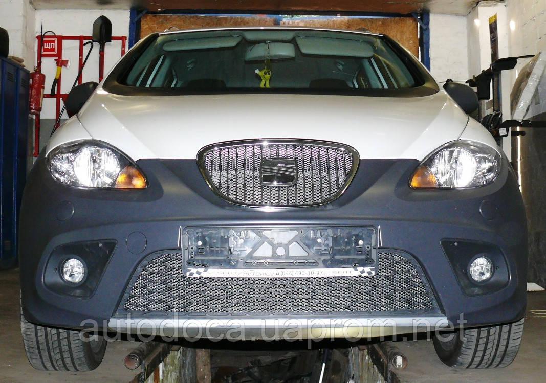Декоративно-защитная сетка радиатора Seat Altea 4 Freetreck фальшрадиаторная решетка, бампер