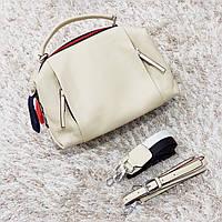 Жіноча маленька сумка молочна, фото 1