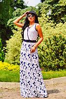 Красивый женский летний сарафан в пол Цветочный орнамент, фото 1