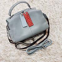 Женская маленькая сумка голубо-серая, фото 1