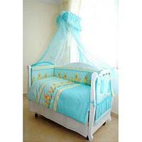 Детский постельный комплект Twins Comfort С-025 Утята с шариками, голубой