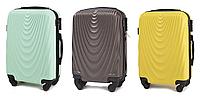 Дорожній валізу на 4-х колесах WINGS 304 Полікарбонат Ручна поклажа, фото 1