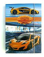 Папка для тетрадей на резинке Машина, фото 1