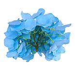 Головка гортензии голубая, 16 см, фото 2